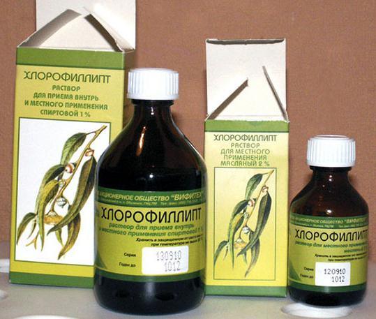 Масляный раствор хлорофиллипта в нос детям