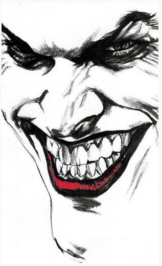 Злой клоун рисунок