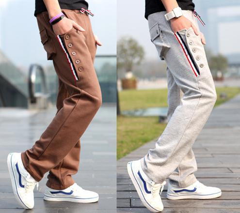штаны с карманами по бокам мужские зауженные