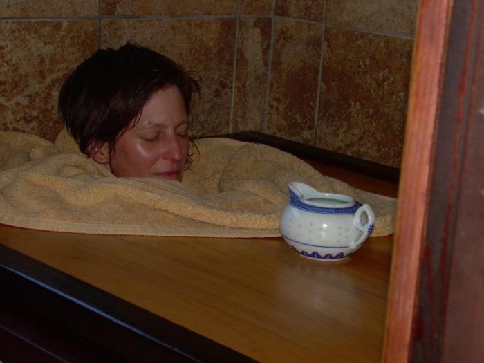 баня лечит простуду