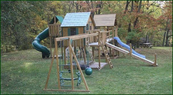 детские горки игровые комплексы