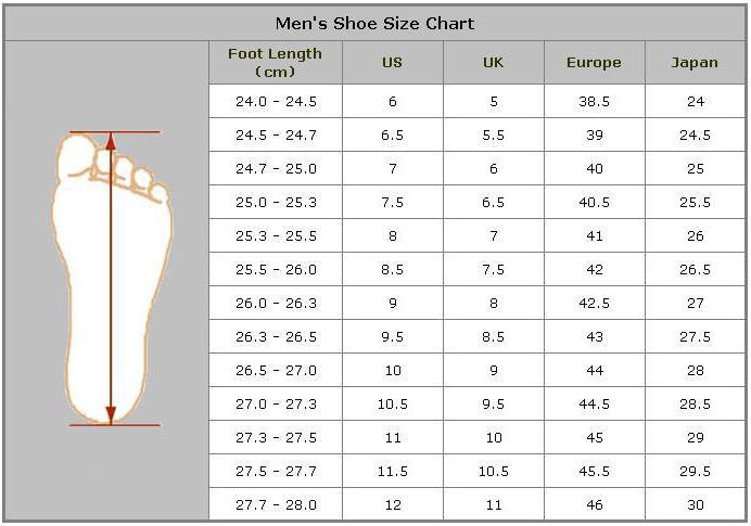 размер обуви россия