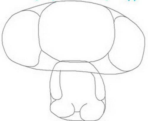 как нарисовать чебурашку карандашом