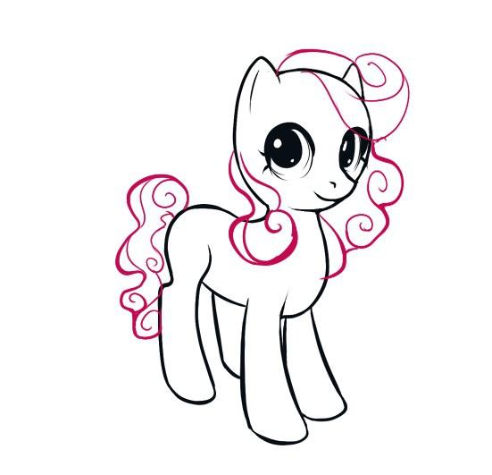как нарисовать пони пинки видео