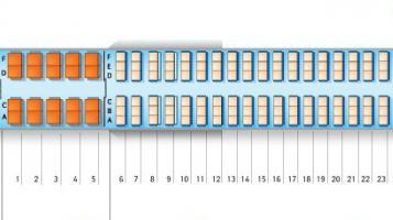 аэрофлот аэробус 320 схема салона