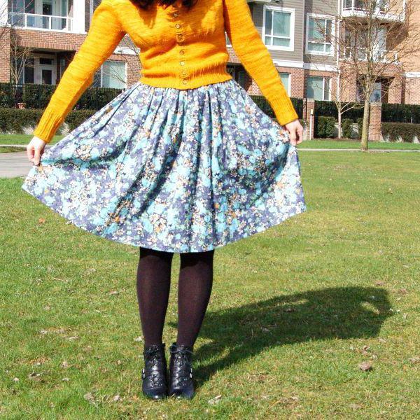 как сделать из платья юбку