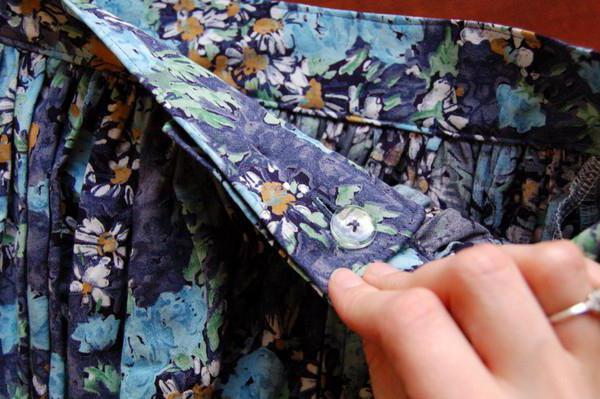 как сделать из платья юбку для девочки фото