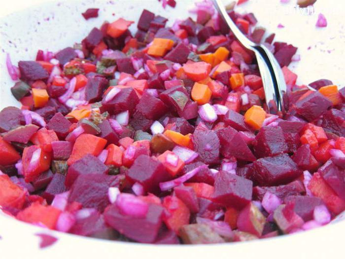 салат винегрет диетический