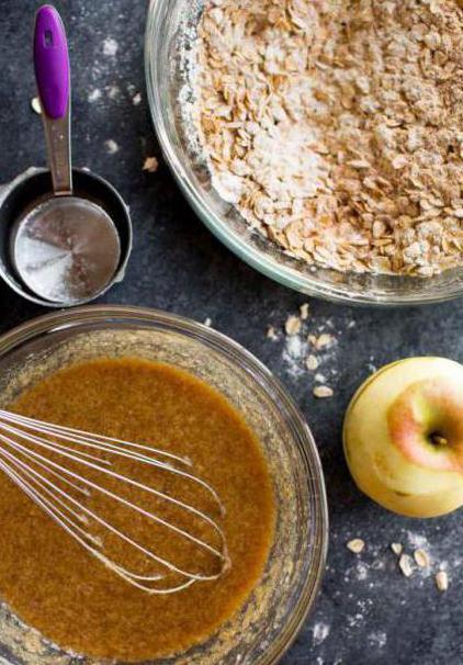 овсяное печенье с яблоками рецепт