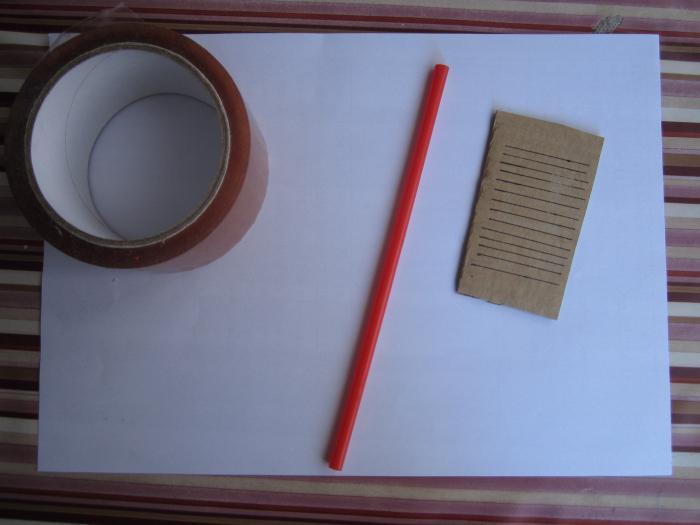 изготовление термометра из картона