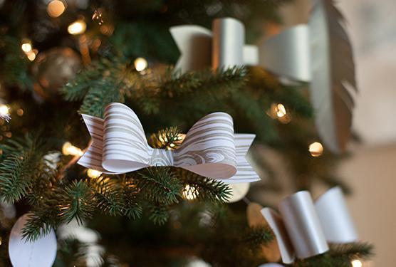 как сделать банты на елку