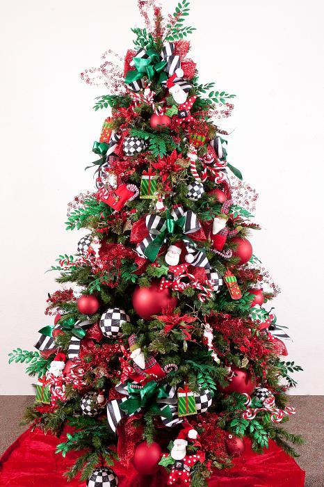 елка с бантами фото