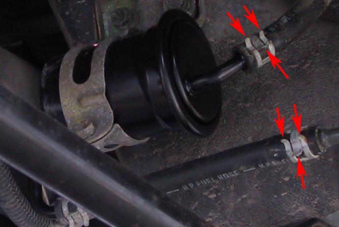 Замена топливного фильтра логан 1 6