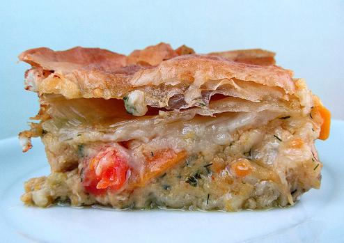 пирог мясной с картошкой