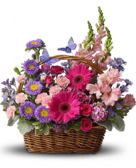 корзинки с цветами своими руками