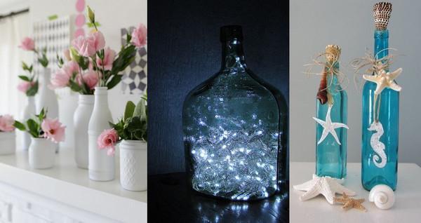 Схема вазы из бутылки