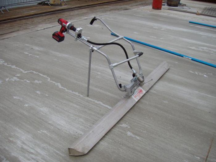 Виброрейка для укладки бетона своими руками видео