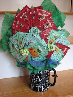 как сделать подарок из чая