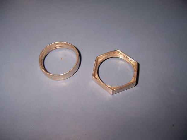из монеты кольцо