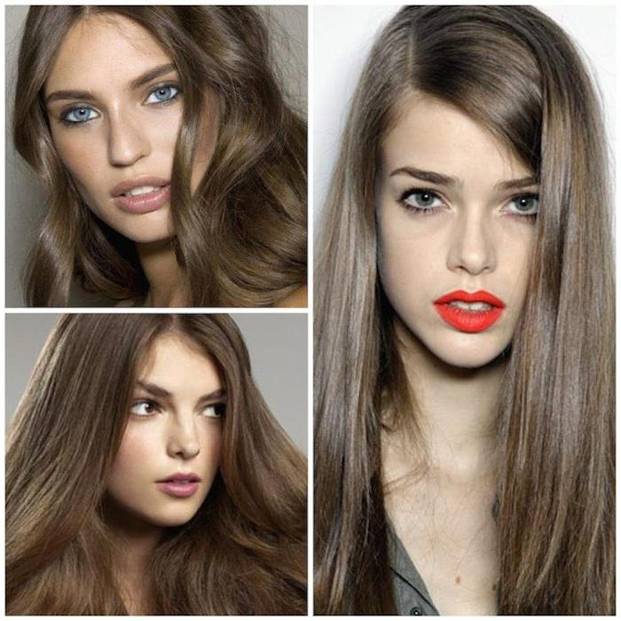 Натуральный темно-русый цвет волос