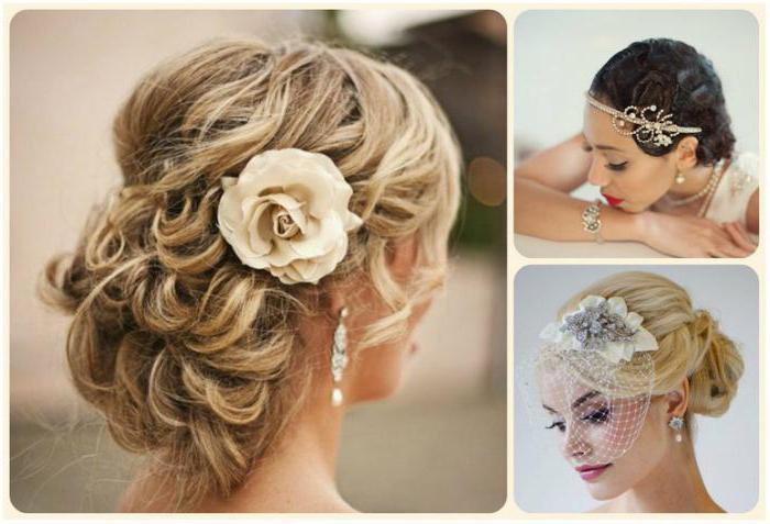 Свадебные причёски на волосы до плеч фото