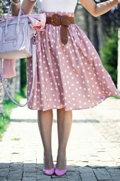 юбка в горох