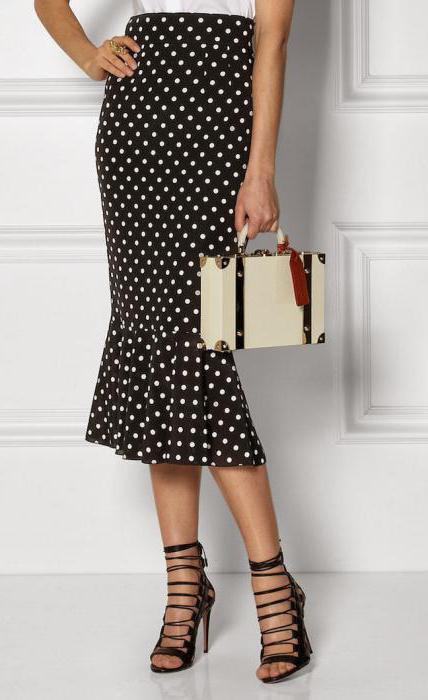 Платье с юбкой в горох
