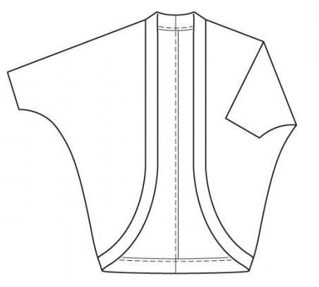 Выкройка кардигана - как сшить модную вещь за пару часов