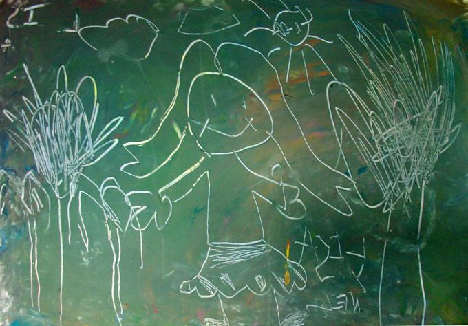 техника рисования граттаж в детском саду