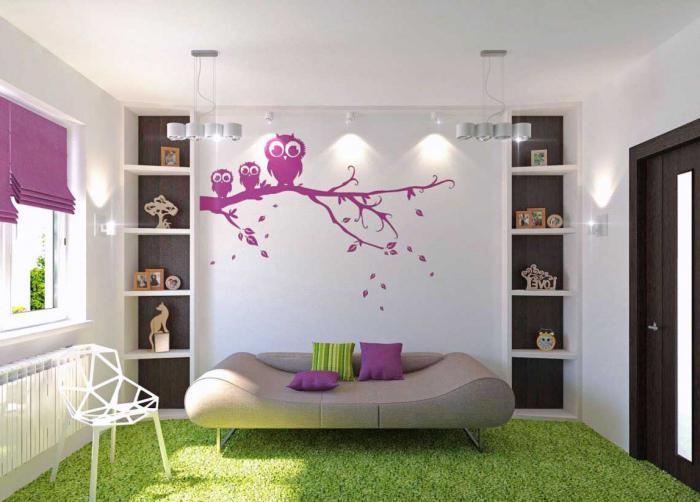 визуально увеличить комнату с помощью обоев