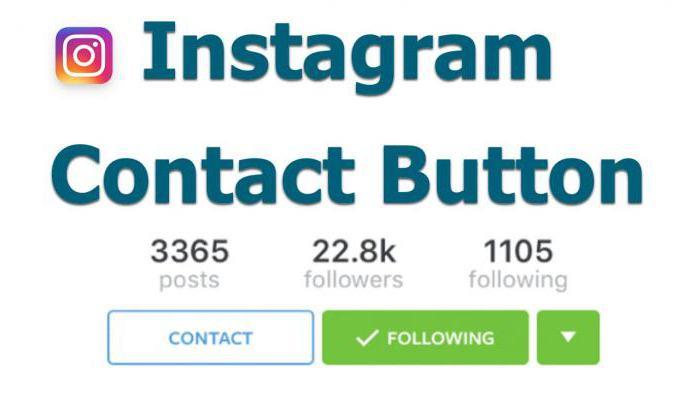 как добавить кнопку связаться в инстаграм