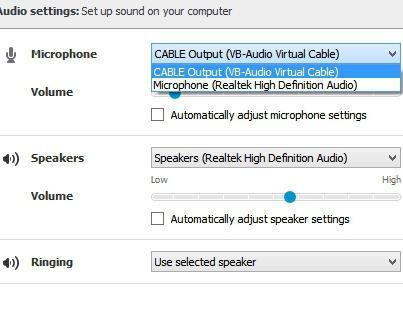 как сделать звук в скайпе