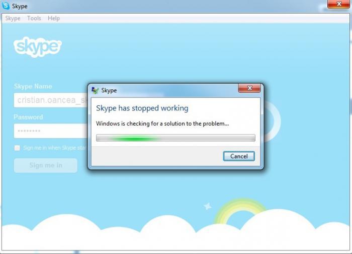 не заходит скайп что делать