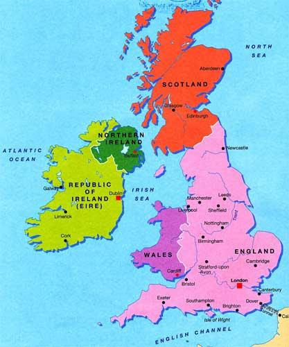 Великобритания состав стран