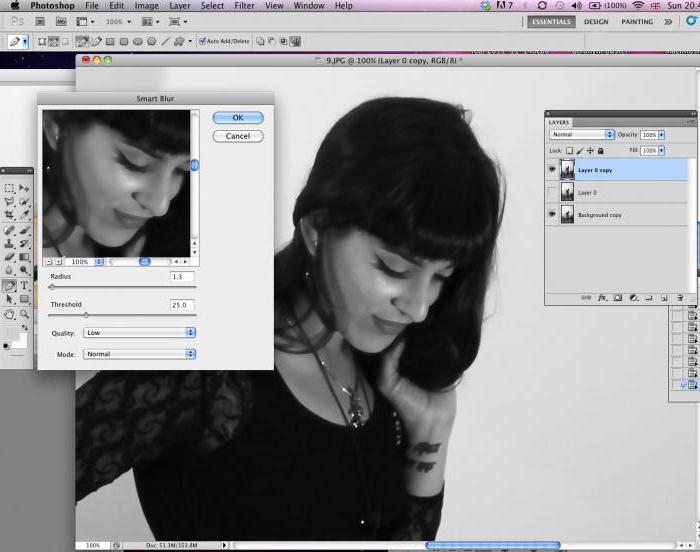 Как сделать эффект размытия в фотошопе