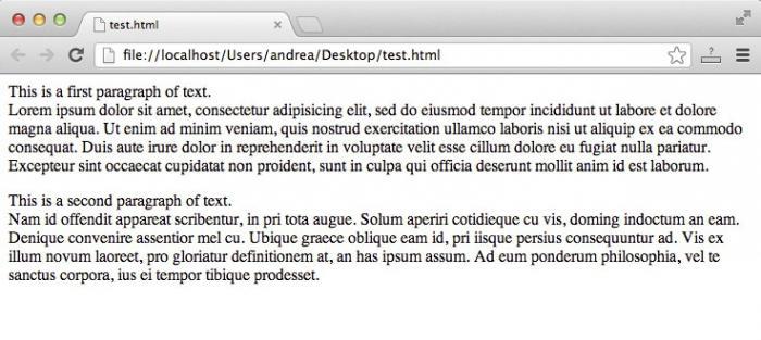 тег br языка гипертекстовой разметки html означает