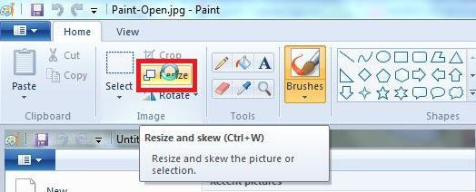 Как увеличить размер в paint