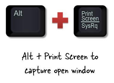 Комбинация клавиш PrtScrn+Alt для захвата только активного окна