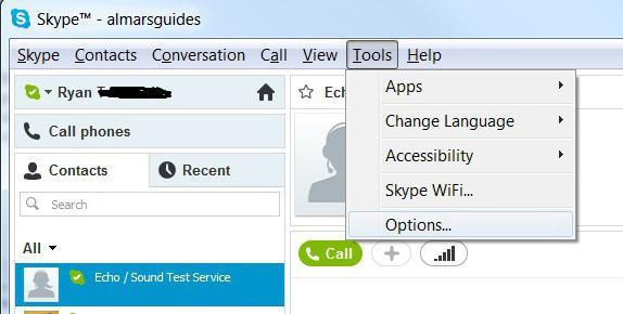 как включить скайп