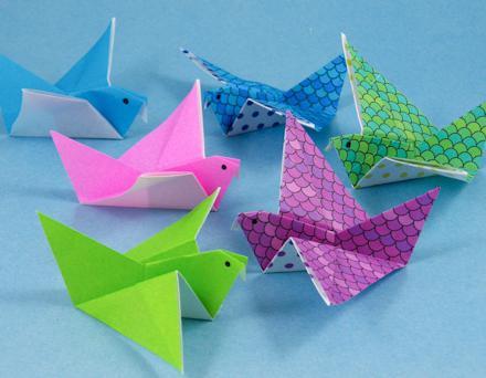Инструкция поделок птицы из бумаги