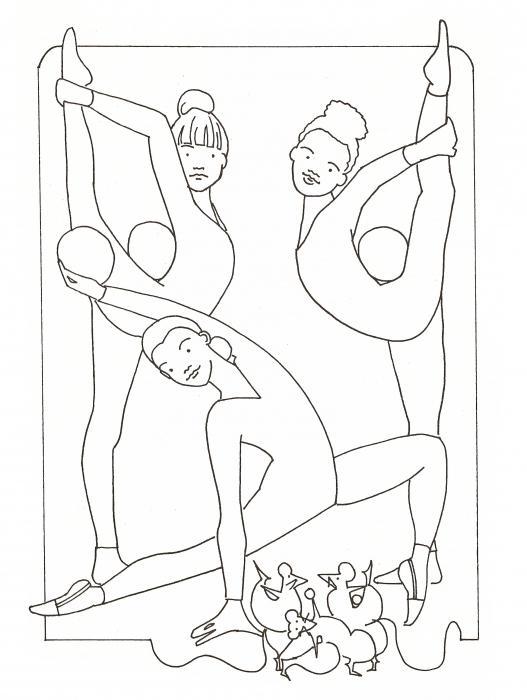 как нарисовать гимнастку карандашом