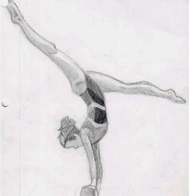как нарисовать гимнастку поэтапно