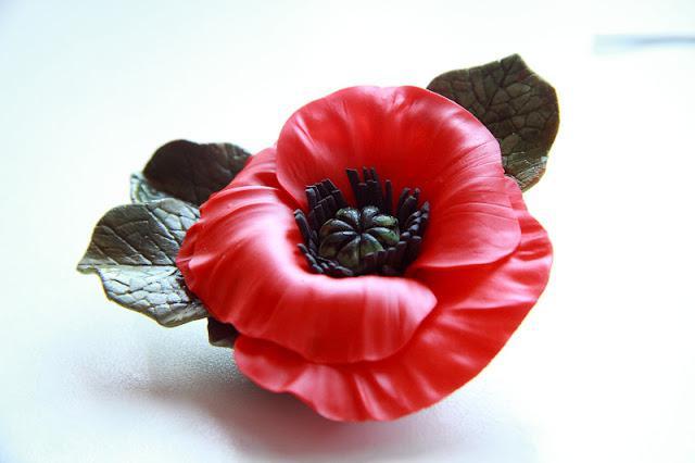 цветок из холодного фарфора