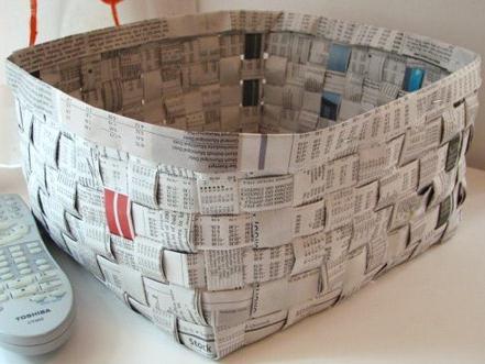 плетение из газетных трубочек пошагово