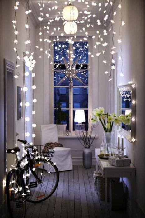 украсить квартиру к новому году фото