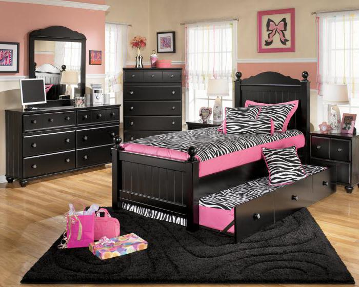 современная спальня девушки
