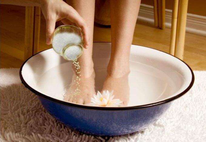 Ванна для ног с перекисью водорода от грибка