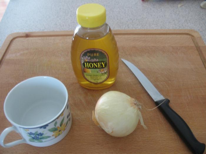 Лук и мед от кашля рецепт