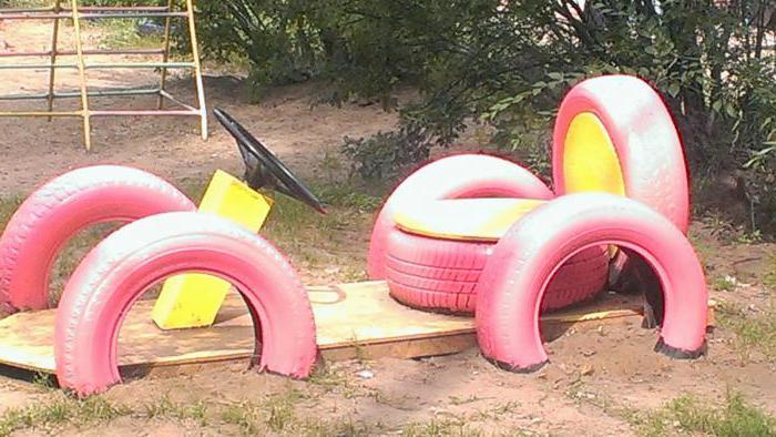 поделки из колесных шин