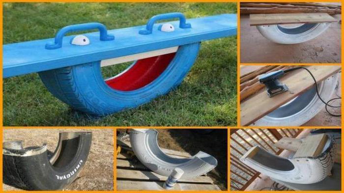 поделки из старых шин для детской площадки